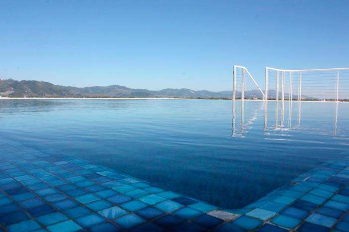 Swimmingpool på hotel i Toscana